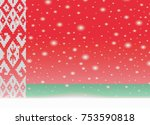 belarus flag on christmas... | Shutterstock .eps vector #753590818