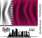 qatar national day on 18 th... | Shutterstock .eps vector #753596452