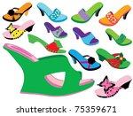 summer shoes | Shutterstock .eps vector #75359671