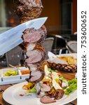brazilian picanha sliced | Shutterstock . vector #753600652