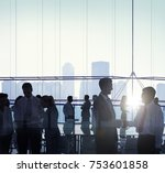 business people in a meeting | Shutterstock . vector #753601858