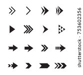 arrow icon vector set | Shutterstock .eps vector #753602356