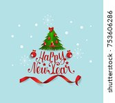merry christmas and happy new... | Shutterstock .eps vector #753606286