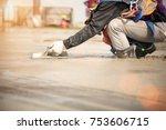 team work of construction... | Shutterstock . vector #753606715