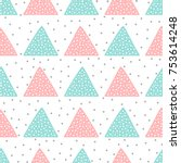 cute seamless pattern for... | Shutterstock .eps vector #753614248