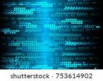 binary circuit board future... | Shutterstock .eps vector #753614902