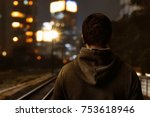 man walking alone | Shutterstock . vector #753618946