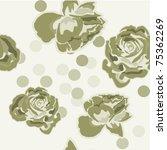 green rose | Shutterstock .eps vector #75362269