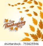 happy thanksgiving holiday.... | Shutterstock .eps vector #753625546