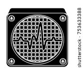cardiograph isolated vector icon | Shutterstock .eps vector #753633388