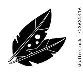 turkey feather icon | Shutterstock .eps vector #753635416