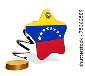 Venezuela Flag Spring Banner - stock photo