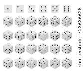 3d dice combinations cube... | Shutterstock .eps vector #753636628