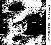 vector black and white grunge... | Shutterstock .eps vector #753638176