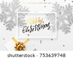 christmas background with gifts ... | Shutterstock .eps vector #753639748