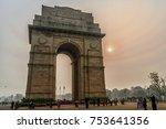 india gate   new delhi. a...   Shutterstock . vector #753641356