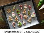 cookies for christmas different ... | Shutterstock . vector #753642622