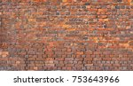 brick wall background  grunge... | Shutterstock . vector #753643966