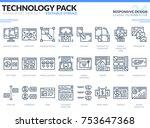 responsive design icons set.... | Shutterstock .eps vector #753647368