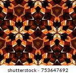 kaleidoscope seamless pattern....   Shutterstock .eps vector #753647692