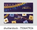 christmas banner  xmas... | Shutterstock .eps vector #753647926