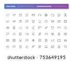 11. set of 60 line icons....   Shutterstock .eps vector #753649195