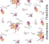 floral pattern in vector | Shutterstock .eps vector #753653356