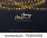 christmas background with... | Shutterstock .eps vector #753654328