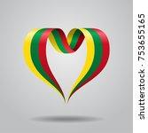 lithuanian flag heart shaped... | Shutterstock .eps vector #753655165
