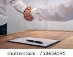 real estate broker agent and... | Shutterstock . vector #753656545