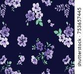 floral pattern in vector | Shutterstock .eps vector #753657445
