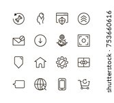 website icon set. collection of ... | Shutterstock .eps vector #753660616