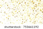 many random falling stars... | Shutterstock .eps vector #753661192