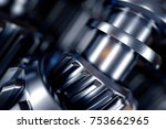 3d illustration of metal gear... | Shutterstock . vector #753662965