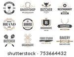 restaurant retro vector logo... | Shutterstock .eps vector #753664432