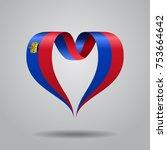liechtenstein flag heart shaped ... | Shutterstock .eps vector #753664642