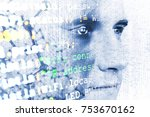machine learning systems... | Shutterstock . vector #753670162