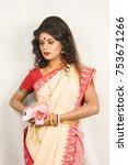 beautirul indian female model... | Shutterstock . vector #753671266