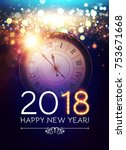 happy new 2018 year background... | Shutterstock .eps vector #753671668