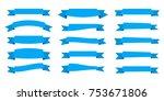 ribbon. flat vector ribbons... | Shutterstock .eps vector #753671806
