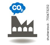 factory cloud co2 icon vector.... | Shutterstock .eps vector #753673252