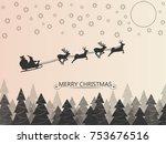 santa clause on deer sleigh...