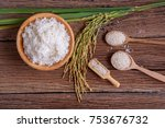 cooking white rice  thai... | Shutterstock . vector #753676732