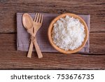 cooking white rice  thai... | Shutterstock . vector #753676735