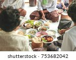 thai food style in country | Shutterstock . vector #753682042