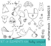 vector cute design elements for ... | Shutterstock .eps vector #75368215