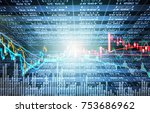 stock market or forex trading... | Shutterstock . vector #753686962
