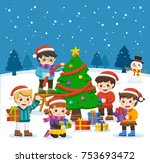 happy new year and merry... | Shutterstock .eps vector #753693472