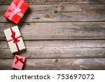 merry christmas. decoration for ... | Shutterstock . vector #753697072