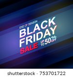 black friday sale text on blue...   Shutterstock .eps vector #753701722